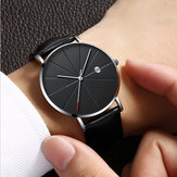 Deffrun Casual Style Business Leather Strap Men Wrist Watch