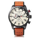 CURREN 8250 Luxury Leather Watch Band Casual Men Watch