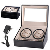 Automatic 4+6 Watch Winder Rotation Case Display Watch Box