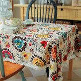 Sol ropa de algodón de la flor cojín de la estera vajilla de mesa de mantel camino de mesa cubierta de aislamiento térmico tazón