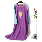Cotton Round Neck Nightgown