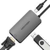 Vention CGJHA USB C to USB3.0 VGA With PD Charging Port Type C 3.1 to USB Hub Type-c Video Adapter