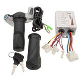 36V 500W Motorcycle Controller Brushed W/ Throttle Twist Grips 7/8 inches(22.2mm) Electric Bike