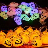 Хэллоуин призрак тыквы красочные строки огни сад во внутреннем дворе с привидениями праздник украшения дома бар