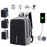 Men Boys Backpack Rucksack With USB Port Headphone Hole Travel Hiking School Bag