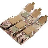 GELOOF PRO Outdoor Camouflage Bag Molle Triple Magazine Pouch Mag Holder Accessory Bag