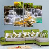 4Pcs водопад комбинация живописи Напечатано на холсте безрамного рисунка Домашнее украшение бумаги искусства