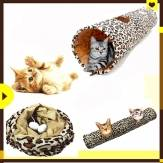 Pet Cat Soft Speel Tunnel Speelgoed Collapsible Leopard Print Katje 2 Gaten Lang Tunnel Konijn Pret Speelgoed