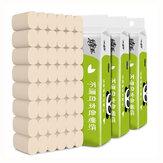 10 rollen 4-laags Soft Huishoudelijk toiletpapier Weefsel Natuurlijke pulppapierrollen Sterke waterabsorptie Snel oplossende toiletpapierdoos