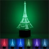 Colorful Eiffel Tower 3D Touch Control USB LED Desk Table Light Night Lamp