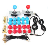 2 Player Arcade Kit USB Encoder To PC Joystick 20 Buttons For MAME Controller