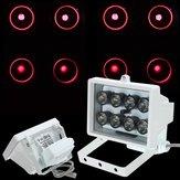 Illuminateur lumière infrarouge pour caméra de sécurité IR 8 LED 12v lampe de vision nocturne
