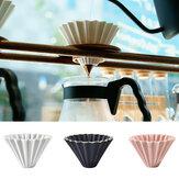 1ピースセラミック折り紙sytleV60フィルターカップコーヒードリッパー1-2カップ用バリスタセラミックフィルターカップ