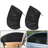 2 Pcs Preto Janela Traseira Do Carro Sun Sombra Cortina Cover UV Protetor Escudo Sombrinha Net 115X50 cm