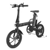 CMSBIKE F16-PLUS 13Ah 250W Black 16 Inches Folding Electric Bicycle 25km/h 80km Mileage Intelligent Variable Speed System