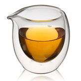 200ml Heat-Resisting Clear Double Wall Layer Glass Tea Cup Transparent Coffee Cup