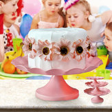 Pink Round Metal Cake Holder Of Cake Cup Cake Stand Birthday Wedding Party Display Holder