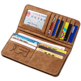 Vertical PU Leather Wallet 13 Card Slots Card Holder Casual Bill Holder For Men
