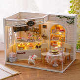 CuteRoom H-014 Cake Diary Shop DIY Dollhouse With Music Cover Light House Модель