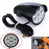 BIKIGHT 2800LM 7x LED Fahrrad Front Light Metalll Shell 80db Horn Elektroroller Scheinwerfer