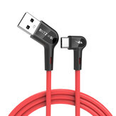 Blitzwolf® BW-AC1 3A 90°Right Angle USB A to Type-C Data Cable 0.9m 1.8m for Gaming Mobile Phone Samsung Xiaomi HUAWEI