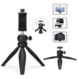 Mini Multi-angle Rotation Handheld Selfie Stick Tripod for Sports Camera Tabletop Smartphones With Phone Clip