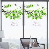 60x58cm Frosted Opaque Glas Fenster Film Baum Und Vogel Datenschutz Glas Aufkleber Home Decor