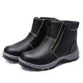 عدسة السلامة للرجال الصلب تو غير زلة أحذية سستة ضد للماء في الهواء الطلق أحذية العمل لحام
