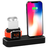 3 in1 Ladestation Station Telefonhalter Ständer für iPhone XS Max XS XR Apple AirPods Apple Watch Serie 1 2 3 4