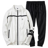 Men's Spring Autumn Casual Loose Zipper Sports Suit