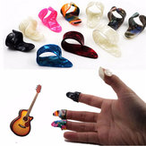 Guitar Plastic Nail Picks Plectrums 3 Finger Picks + 1 Thumb Picks Plectrums