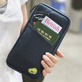 6 Colors Multifunctional Travels Card Holder Portable Wallet Purse Storage Bag