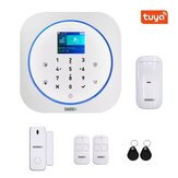 GUUDGO Tuya التطبيق ذكي WiFi GSM Home Security إنذار System Detector إنذار 433MHz متوافق with Alexa Google Home IFTTT