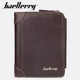 Baellerry Men Faux Leather Zipper Coin Wallet