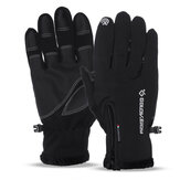TENGOO 1 Pair Men Women Winter Warm Bike Gloves Windproof Waterproof Thermal Touch Screen Glove