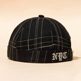 New Avene Style Casual Street Retro Stripe Brimless Hats