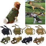 戦術的なK9犬軍警察モールベストNylonサービス犬犬ハーネスXL
