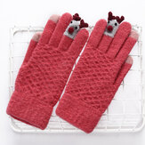 Knit Christmas Gloves Touch Screen Outdoor Gloves