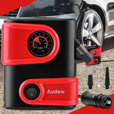 AUDEW 12V DC Car Tyre Tire Inflator Portable Mini Air Compressor Pump Auto Tire Pump for Car Bike Motorcycle SUV and Other Inflatables
