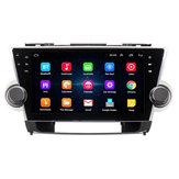10.2インチアンドロイド8.1カーステレオラジオクォードコア1GB + 16GBタッチスクリーンGPS WiFi for Toyota Highlander 2009-2013