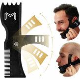 Einstellbares Bartformungswerkzeug Trimmen Shaper Template Comb