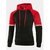 Mens Casual Spell Color Cotton Hoody