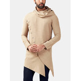 Mens Chinese Style Stacked Collar Long Sleeved Jacket Sweats