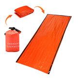 Dormir de emergência reutilizável PE ao ar livre Bolsa Cobertura de sobrevivência de acampamento impermeável térmica