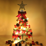 2ft 3ft 5ft Hinged Artificial XmasTree Decoration LED Light Ornament Home Christmas Gifts Decorations Christmas Tree