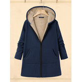 Femmes Casual Zipper Winter Warm Outwear Veste Manteaux
