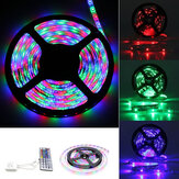3M 5M 10M SMD3528 Non-waterproof RGB LED Strip Light DC12V + 44 Key IR Remote Control for Home Decoration