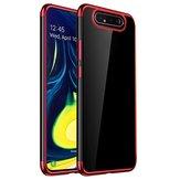 Bakeey Custodia protettiva in TPU trasparente Soft per placcatura antiurto 3 in 1 per Samsung Galaxy A80 2019