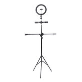 26cm LED Light Video Selfie Ring Light with Microphone Pole 210cm Light Stand Tripod bluetooth Shutter