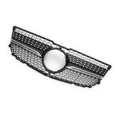 Diamond Black Front Grille Grill For Mercedes Benz GLK X204 GLK250 GLK350 2013-2015